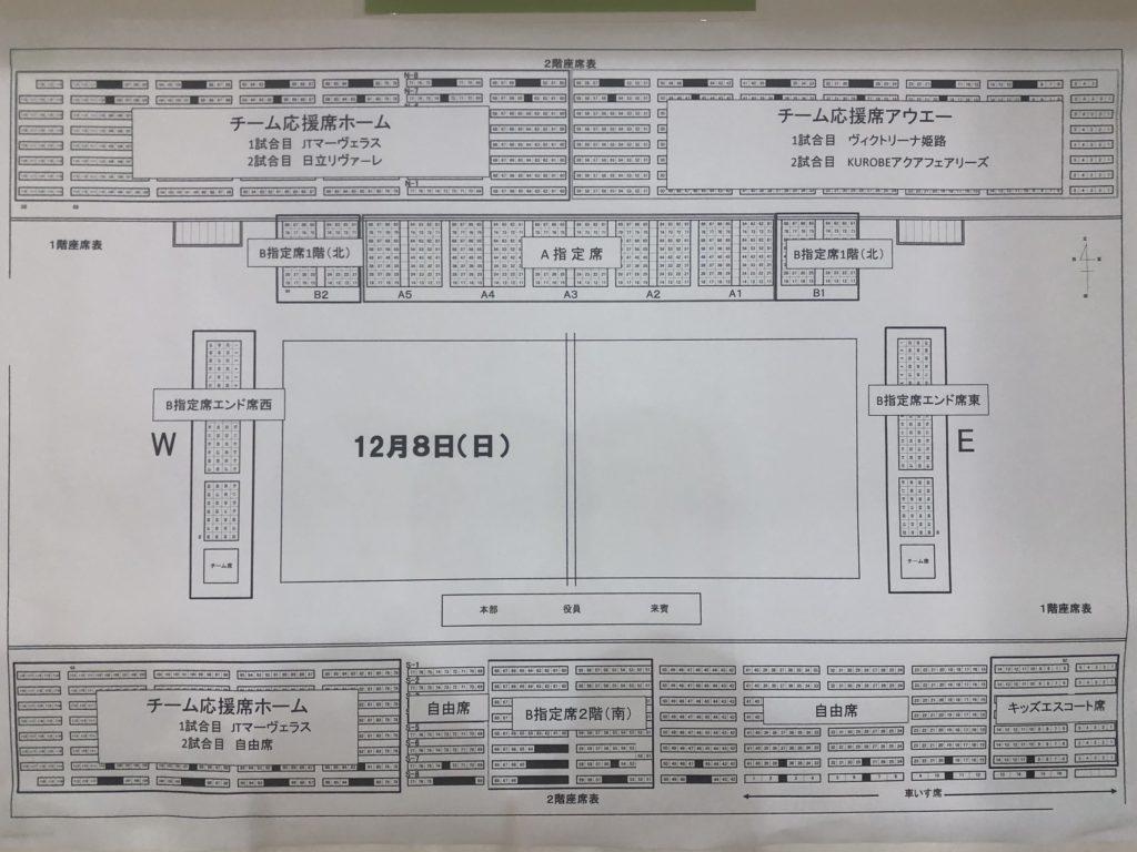 加古川市立総合体育館 座席表